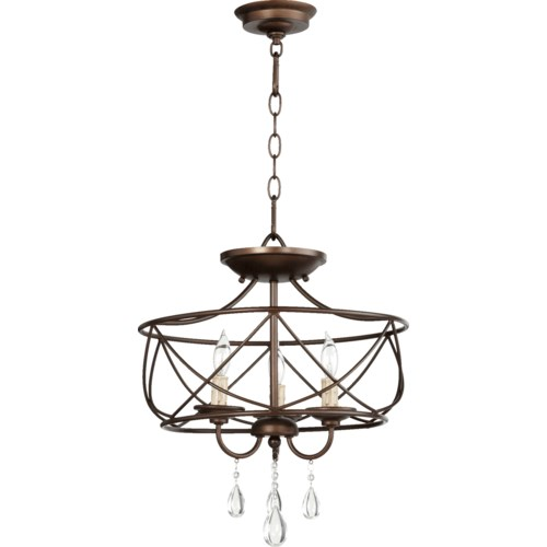 Cilia 16-in Semi-Flush Mount Oiled Bronze