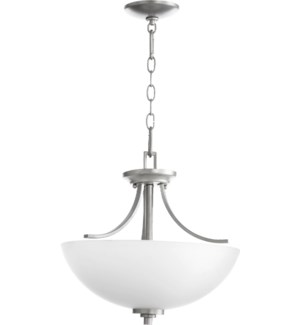 Reyes 15-in Semi-Flush Mount Classic Nickel