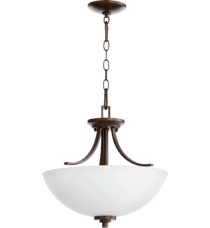 Reyes 15-in Semi-Flush Mount Oiled Bronze