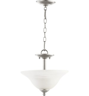 Spencer 13-in Semi-Flush Mount Classic Nickel