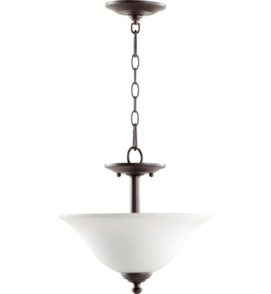 Spencer 13-in Semi-Flush Mount Oiled Bronze