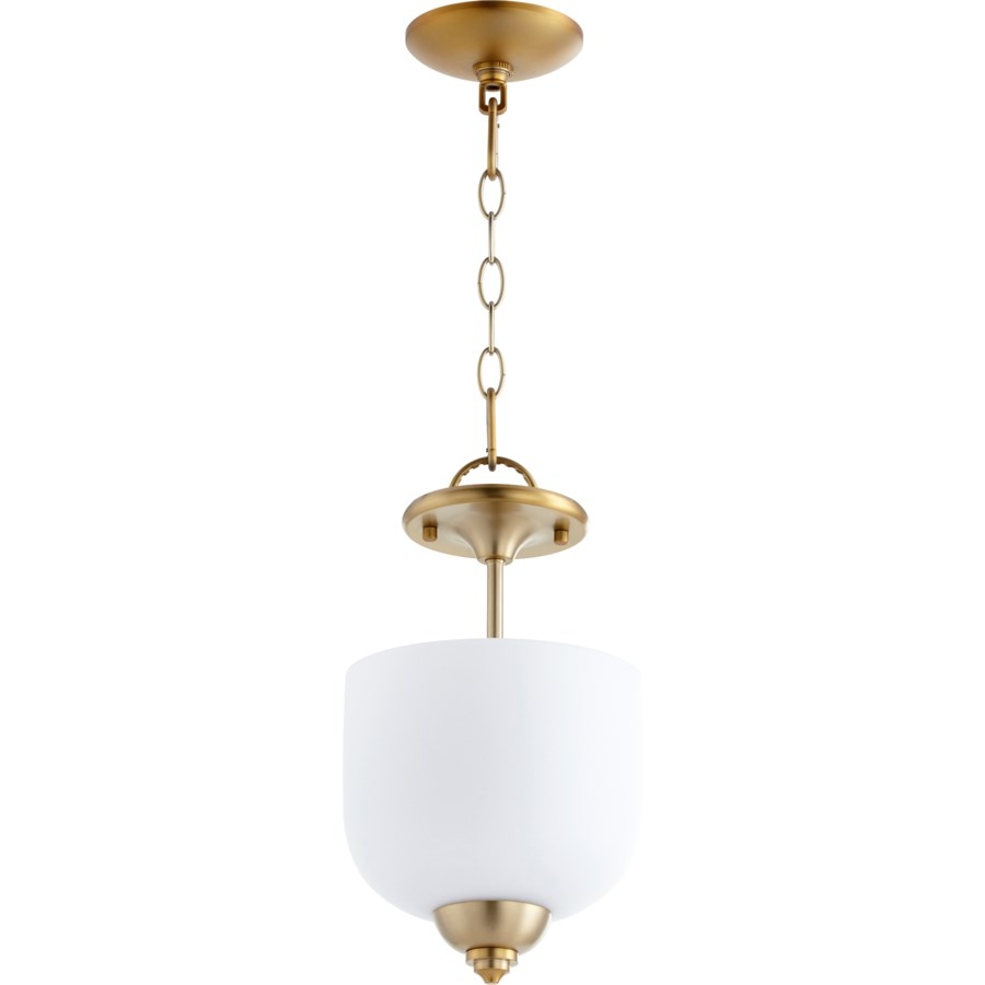 Richmond 8-in Semi-Flush Mount Aged Brass