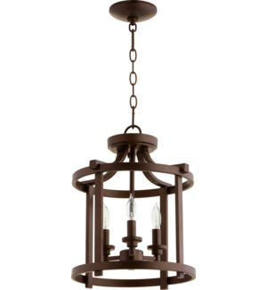 Lancaster 13-in Semi-Flush Mount Oiled Bronze