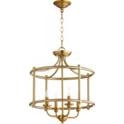 Rossington 18-in Semi-Flush Mount Aged Brass