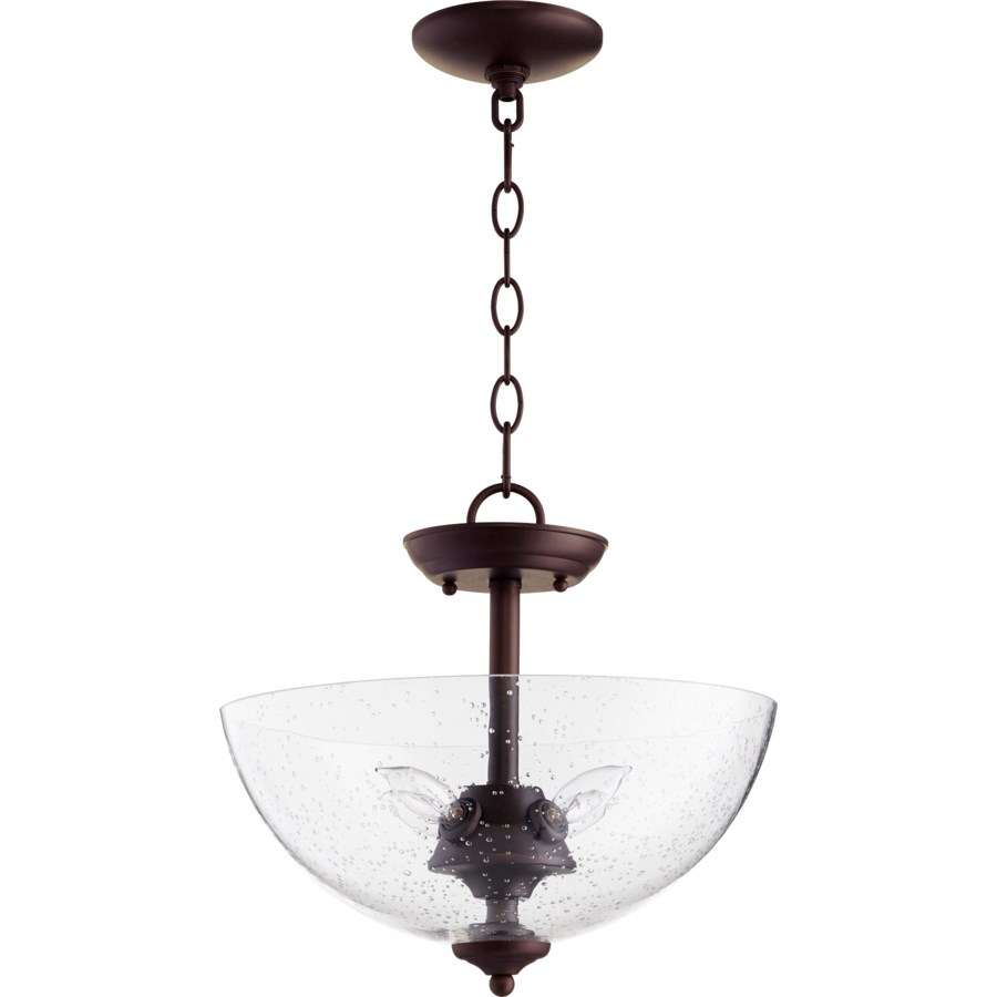 13.75-in Semi-Flush Mount Oiled Bronze