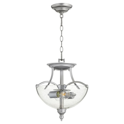 Aspen 14-in Semi-Flush Mount Classic Nickel