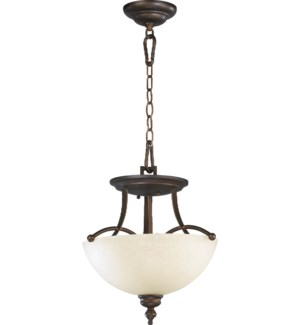 Aspen 14-in Semi-Flush Mount Oiled Bronze