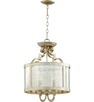 Champlain 16-in Semi-Flush Mount Aged Silver Leaf