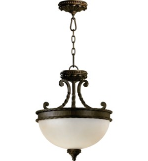 Alameda 15-in Semi-Flush Mount Oiled Bronze