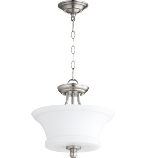 Rossington 13-in Semi-Flush Mount Satin Nickel