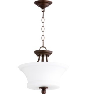 Rossington 13-in Semi-Flush Mount Oiled Bronze