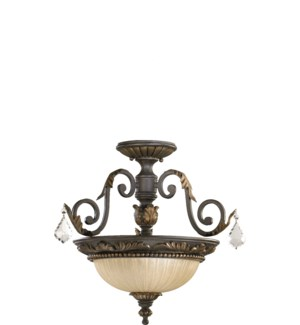 Rio Salado 17-in Semi-Flush Mount Toasted Sienna