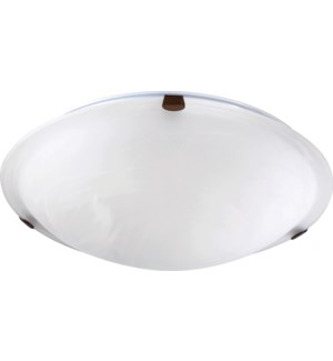 16 Inch Ceiling Mount Oiled Bronze