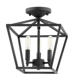 Gabriel 11 Inch Ceiling Mount Black