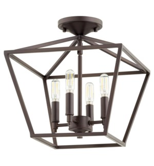 Gabriel 13-in Semi-Flush Mount Oiled Bronze