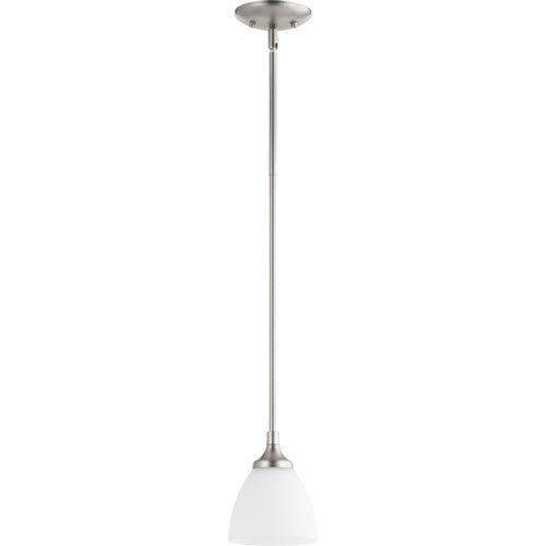 Enclave Satin Nickel Transitional Mini Pendant