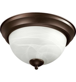 15 Inch Ceiling Mount Oiled Bronze