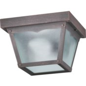 7 Inch Ceiling Mount Rust
