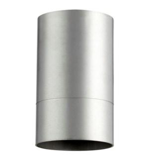 Cylinder 7 Inch Ceiling Mount Brushed Aluminum