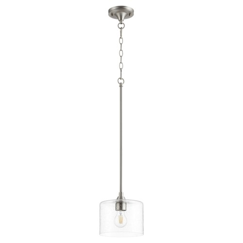 Dakota Satin Nickel  Soft Contemporary Mini Pendant