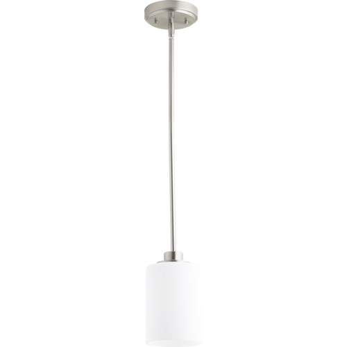 Lancaster Satin Nickel Transitional Mini Pendant