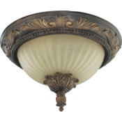 Madeleine 13 Inch Ceiling Mount Corsican Gold
