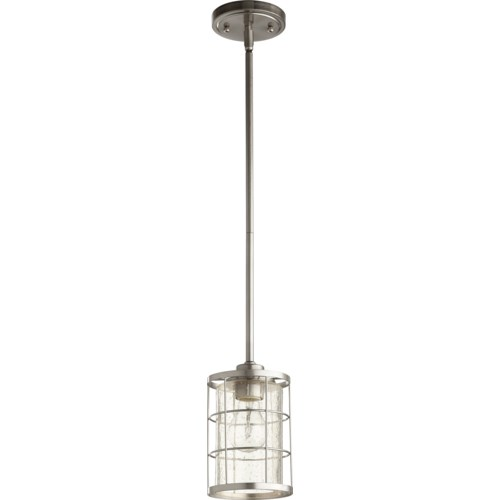 Ellis Satin Nickel Modern Farmhouse Mini Pendant