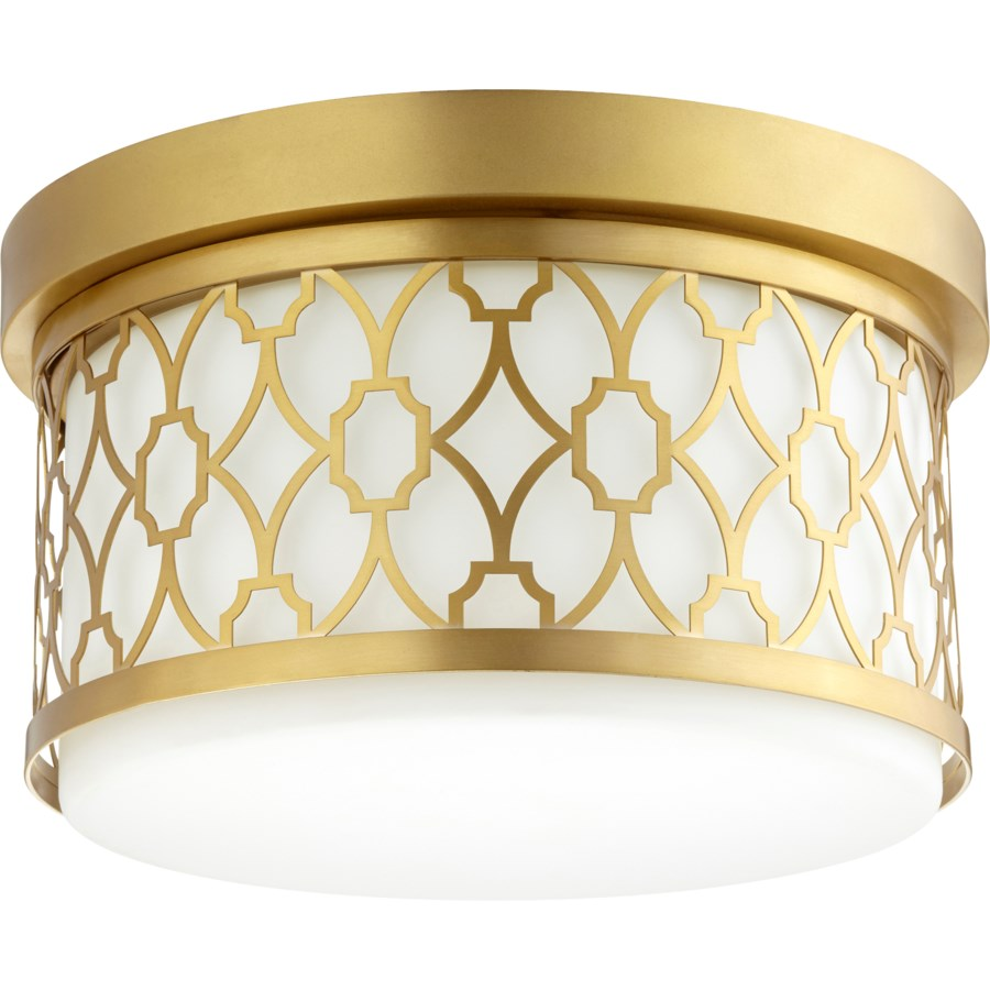12 Inch Ceiling Mount Aged Brass
