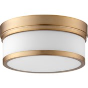Celeste 12 Inch Ceiling Mount Aged Brass