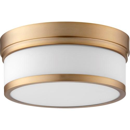 Celeste 12 Inch Ceiling Mount Aged Brass