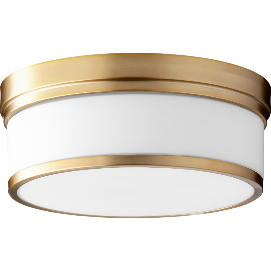 Celeste 14 Inch Ceiling Mount Aged Brass