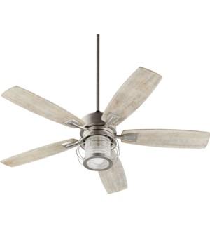 Galveston 52-in 5 Blade Satin Nickel Modern Farmhouse Ceiling Fan