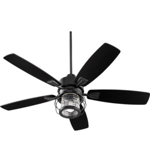Galveston 52-in 5 Blade Black Noir Modern Farmhouse Ceiling Fan