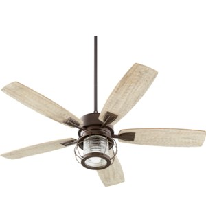 Galveston 52-in 5 Blade Oiled Bronze Modern Farmhouse Ceiling Fan