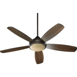 Colton 52-in 5 Blade Oiled Bronze Transitional Ceiling Fan