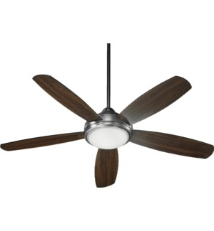 Colton 52-in 5 Blade Antique Silver Transitional Ceiling Fan