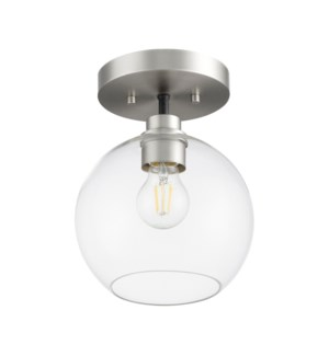 Clarion 1-Light Noir/Satin Nickel Ceiling Mount