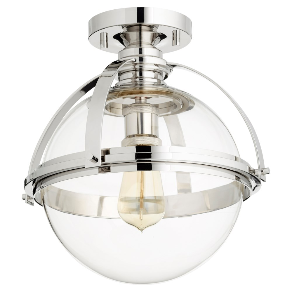 12 Inch Ceiling Mount Polished Nickel