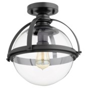 12 Inch Ceiling Mount Black Noir
