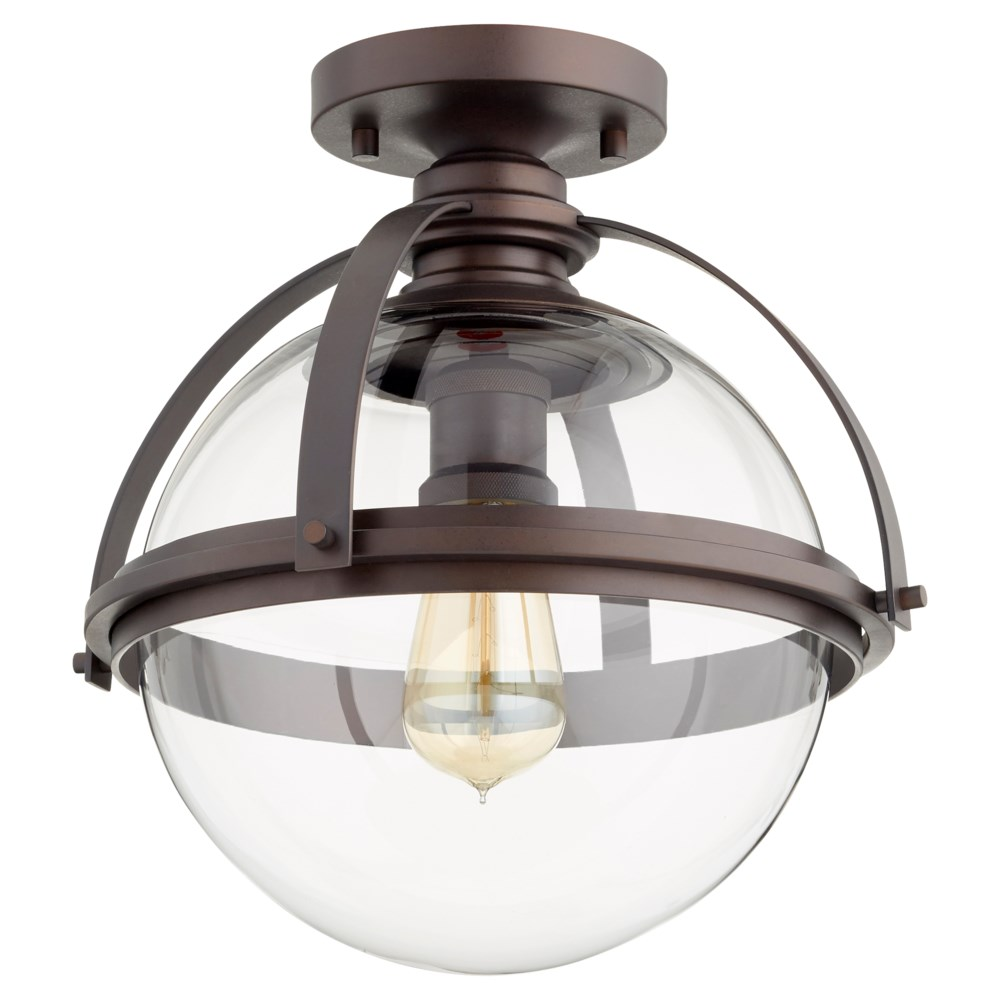 12 Inch Ceiling Mount Oiled Bronze