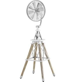 Windmill 70-in 8 Blade Galvenized Modern Farmhouse Floor Fan