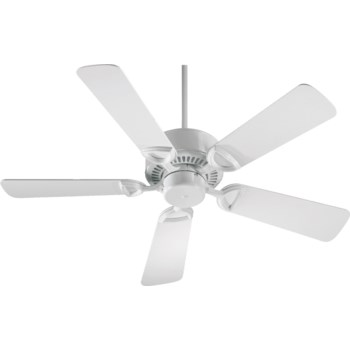 Estate 42-in 5 Blade White Traditional Ceiling Fan