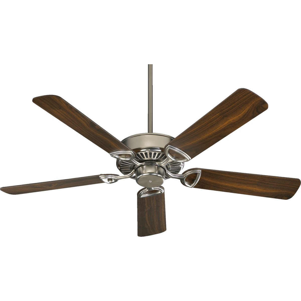 Estate 52-in 5 Blade Satin Nickel Traditional Ceiling Fan