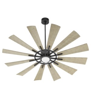 """CIRQUE 60"""" Matte Black/Weathered Gray Damp Ceiling Fan"""