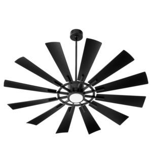 "CIRQUE 60"" Matte Black Damp Ceiling Fan"