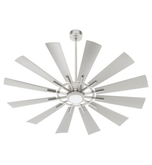 "CIRQUE 60"" Satin Nickel Damp Ceiling Fan"