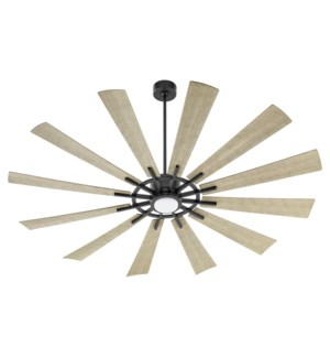 """CIRQUE 72"""" Matte Black/Weathered Gray Damp Ceiling Fan"""