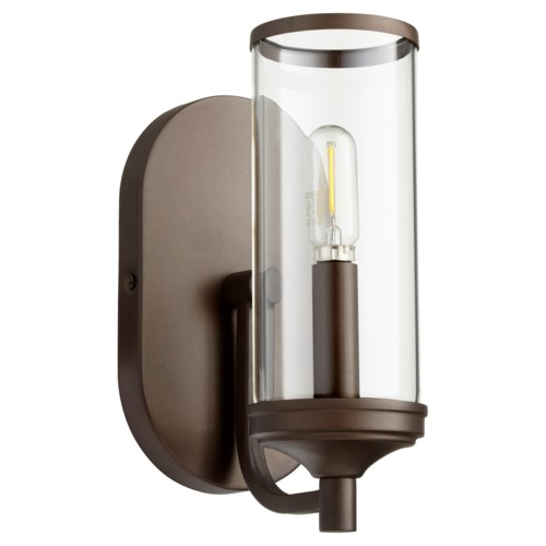 Collins 1 Light Transitional Oiled Bronze Wall Sconce