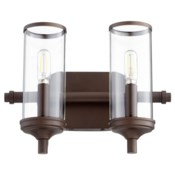 Collins 2 Light Transitional Oiled Bronze Vanity