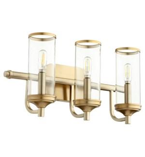 Collins 3 Light Transitional Aged Brass Vanity